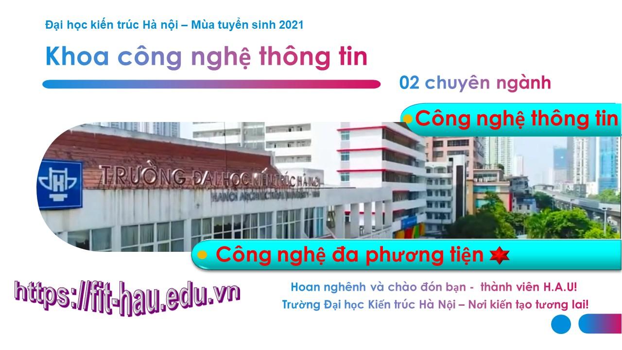 Các chuyên ngành tuyển sinh Khoa Công nghệ thông tin Đại học Kiến Trúc Hà Nội